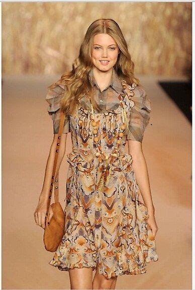 Primodels Review-Patterned prints short dress by primodels