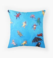The worst of showers. Throw Pillow