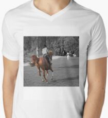 Out for A Run Mens V-Neck T-Shirt