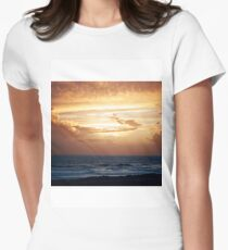 Rest Bay Sunset Womens Fitted T-Shirt