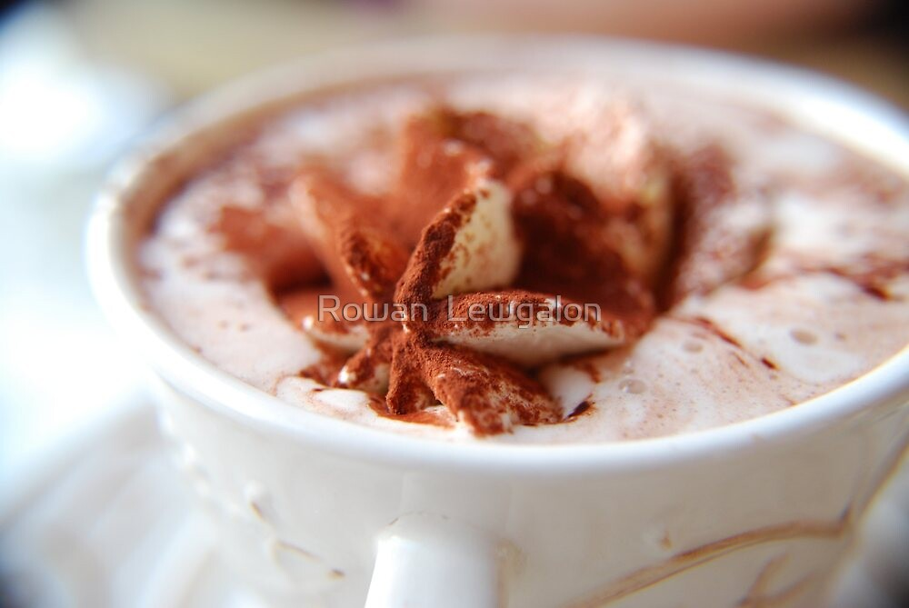 Hot Chocolate with whipped cream by Rowan  Lewgalon