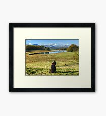 Tarn At Wise Een Framed Print