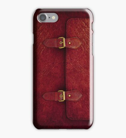 Red Leather Satchel iPhone Case/Skin
