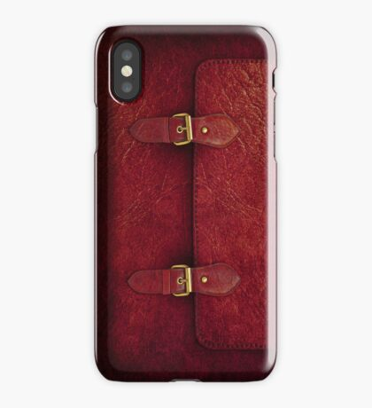 Red Leather Satchel iPhone Case