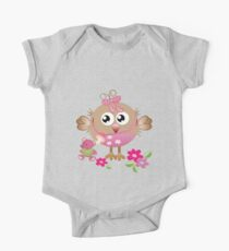 Baby bird and her Bear One Piece - Short Sleeve