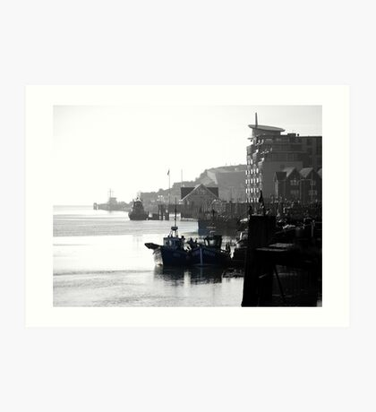 Newhaven West Quay Art Print