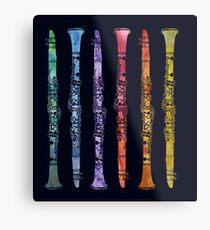 Rainbow Clarinets Metal Print