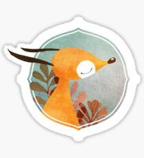 Portrait of fox Sticker