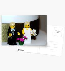 Minifig Wedding Postcards