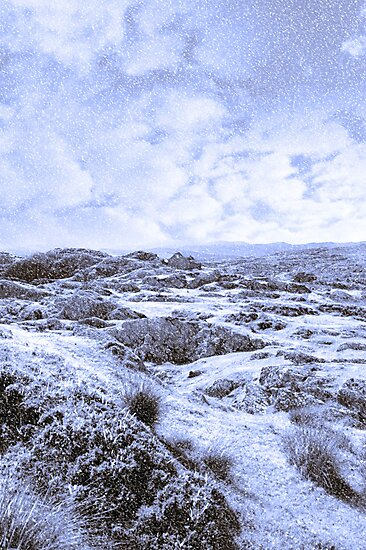 ruin in irish winter christmas landscape by morrbyte
