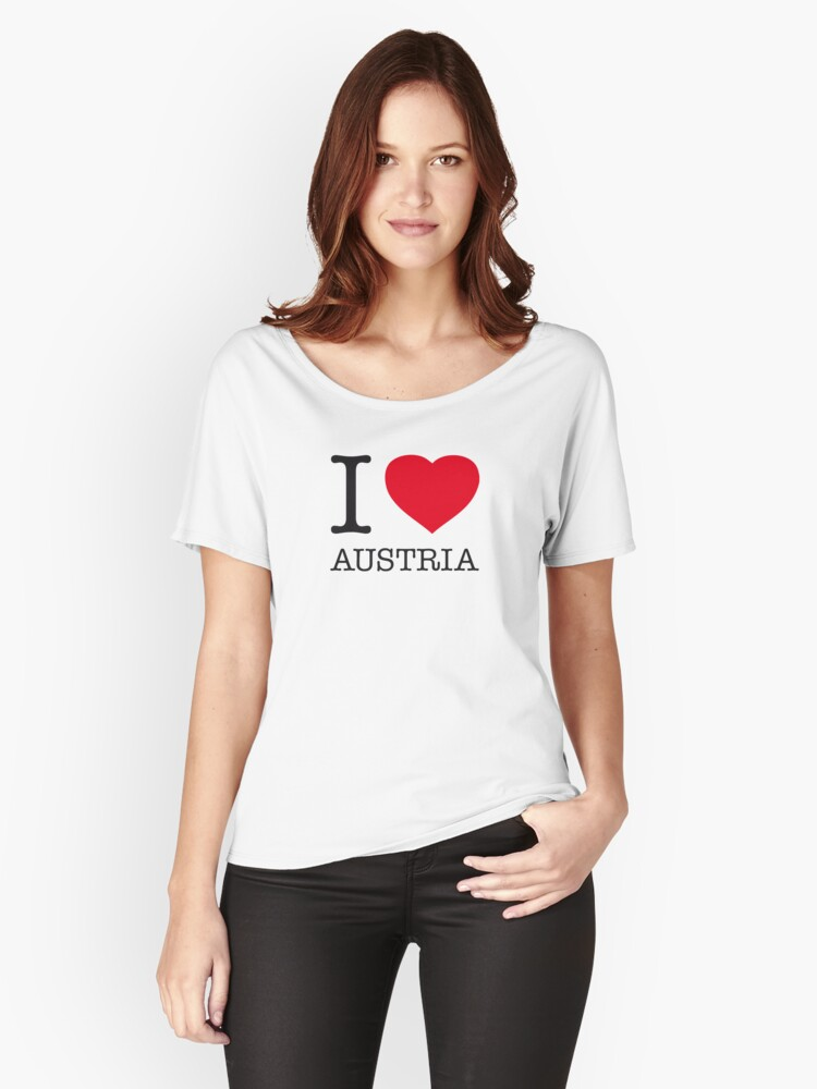 I ♥ AUSTRIA Women's Relaxed Fit T-Shirt Front