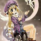 Manga angel in the moon by Happiness         Desiree