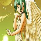 Manga angel and the moon by Happiness         Desiree