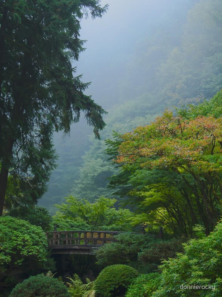Garden Bridge in Mist by Don Schwartz