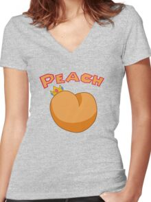 princess peach Women's Fitted V-Neck T-Shirt