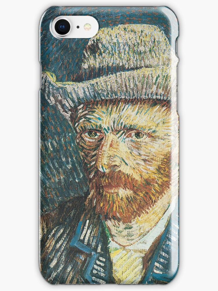 Van Gogh iPhone 5 Case - Self-Portrait with Felt Hat by VanGoghCases