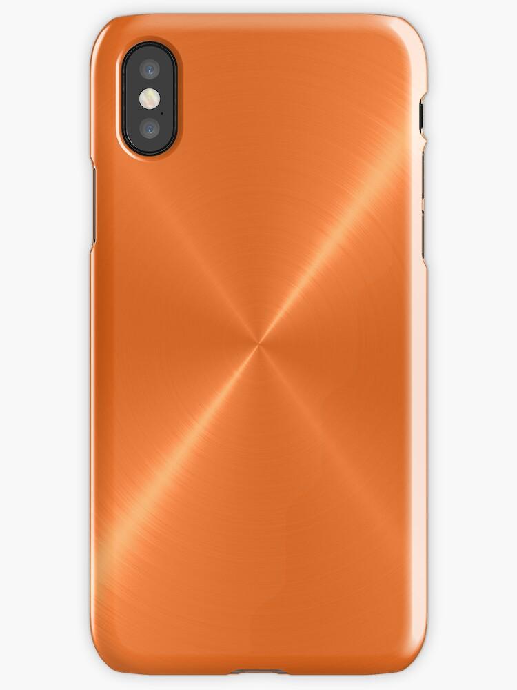 Orange Stainless Shiny Steel Metal by Nhan Ngo