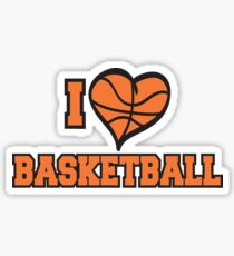 I Love Basketball Sticker