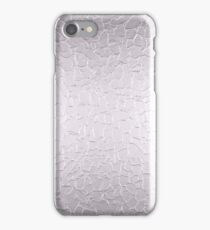 Silver Stainless Shiny Steel Metal 2 iPhone Case/Skin