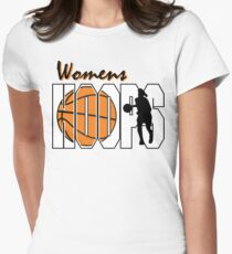 Basketball Women's Hoops Women's Womens Fitted T-Shirt