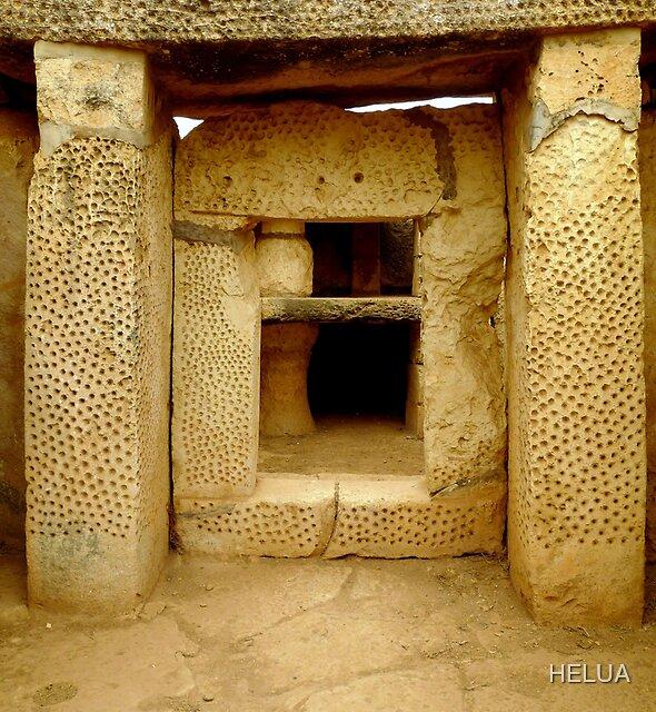 The Honeycomb Trilithon Portal of Mnajdra by HELUA