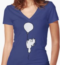 Fly With Me! Women's Fitted V-Neck T-Shirt