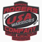usa warriors motorcycle by rogers bros by usala