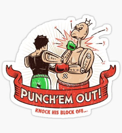 Punch'em Out! Sticker