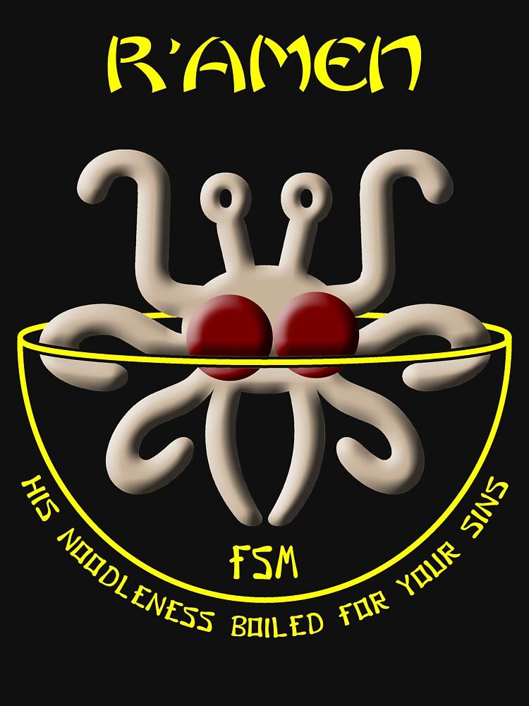Flying Spaghetti Monster - R'Amen de oddmetersam
