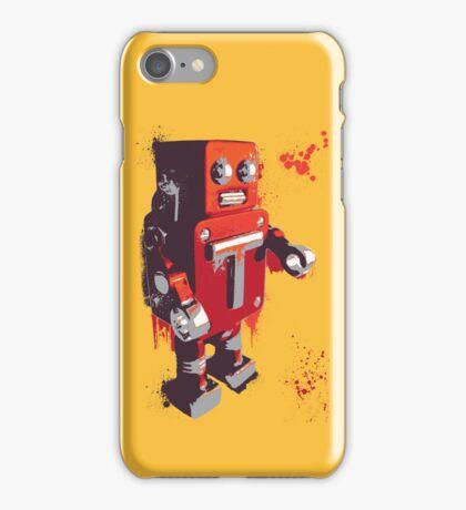 Red Tin Robot Splattery Shirt or iPhone Case iPhone Case/Skin