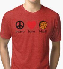 Peace Love Basketball Tri-blend T-Shirt