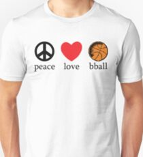 Peace Love Basketball Unisex T-Shirt
