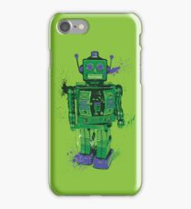 Green Splattery Toy Robot Shirt or iPhone Case iPhone Case/Skin