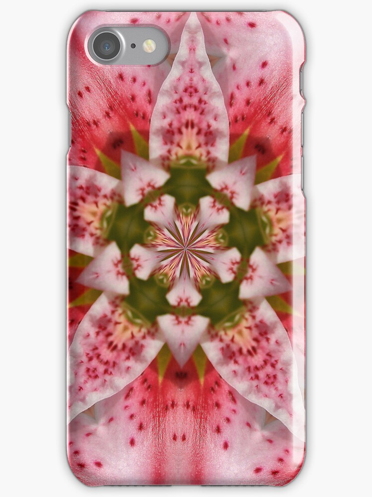 Pink Flower iPhone Case by manateevoyager