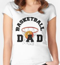 Basketball Dad Women's Fitted Scoop T-Shirt