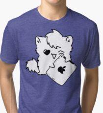 Kitty Loves iDevices! (shirt) Tri-blend T-Shirt