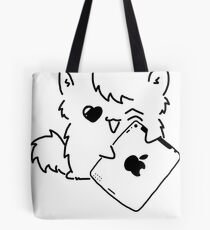 Kitty Loves iDevices! (shirt) Tote Bag