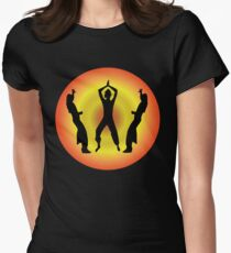 Latin Dance fitness t-shirt Womens Fitted T-Shirt