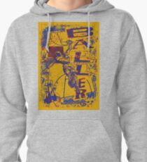 Slam Dunk Baller Yellow and Purple Pullover Hoodie