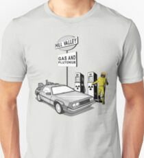 Back to the Future Delorean 'Hill Valley Gas Station' T-Shirt