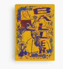 Slam Dunk Baller Yellow and Purple Canvas Print