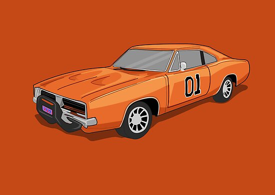 Dukes Of Hazzard (General Lee's Car) by Creative Spectator