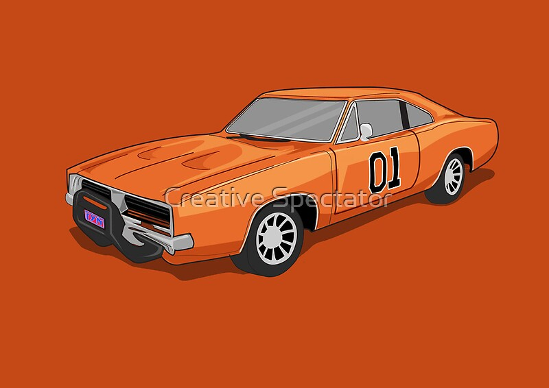 dukes of hazzard general lees car by creative spectator