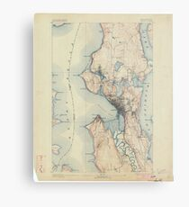 USGS Topo Map Washington State WA Seattle 243633 1894 62500 Metal Print