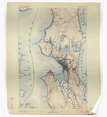 USGS Topo Map Washington State WA Seattle 243633 1894 62500 Poster