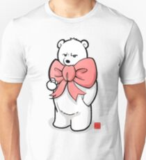 Polar Bear In Pink Ribbon Unisex T-Shirt