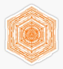 Anatomy of a Cube (Orange) Sticker