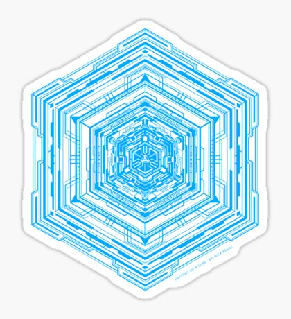Anatomy of a Cube (Blue) Sticker