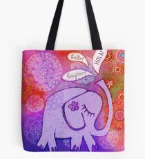 Hello Elephant Tote Bag
