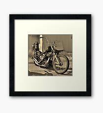 Rat Rod Bike Framed Print